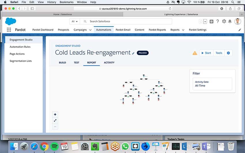 Pardot osana Salesforcen Lightnint-käyttöliittymää